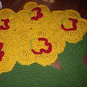 Для дома и интерьера ручной работы. Ярмарка Мастеров - ручная работа Ковер из цветов вязаный. Handmade.