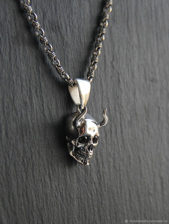 suspension: Skull with horns, Pendants, Kostroma,  Фото №1