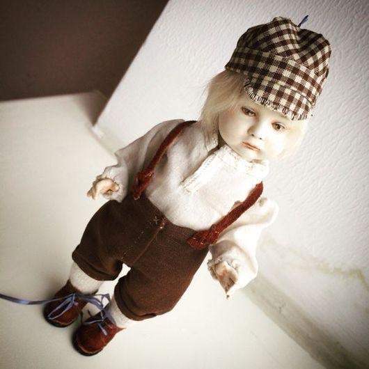 Коллекционные куклы ручной работы. Ярмарка Мастеров - ручная работа. Купить Милый мальчик в антикварном стиле. Реплика.. Handmade.