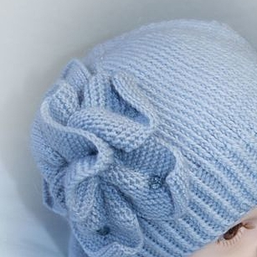 Works for children handmade. Livemaster - original item Spring kit. Hat with flower and Snood, knitted baby. Handmade.