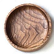 Для дома и интерьера ручной работы. Ярмарка Мастеров - ручная работа Тарелка из каштана диаметр 16,5 см. Handmade.