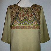 Одежда ручной работы. Ярмарка Мастеров - ручная работа ...Скоро будет елка! Платье ППП + шерсть в елочку, размер 54-56. Handmade.