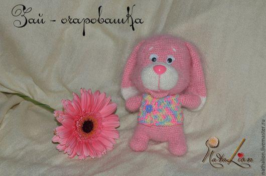 фото заяц вязаный для детей мягкий, zayats