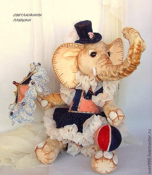 """Мишки Тедди ручной работы. Ярмарка Мастеров - ручная работа. Купить плюшевая слоняша """"Цирковая акробатка Маргарета Элефант"""". Handmade."""