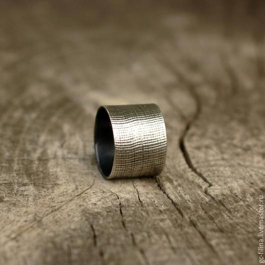 """Кольца ручной работы. Ярмарка Мастеров - ручная работа. Купить кольцо """"Фактура два"""", серебро. Handmade. Серебряный, подарок девушке"""