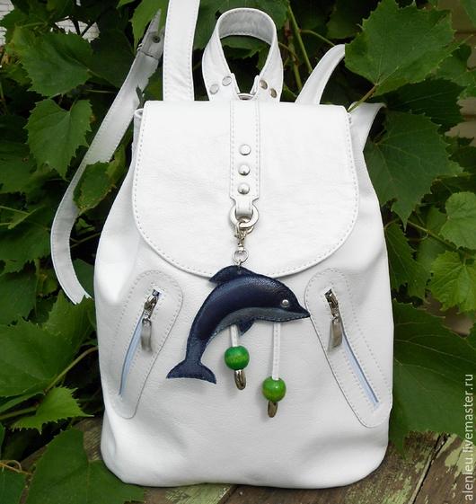 """Рюкзаки ручной работы. Ярмарка Мастеров - ручная работа. Купить """"Белый манящий"""" рюкзак кожаный. Handmade. Белый, красивый рюкзак"""