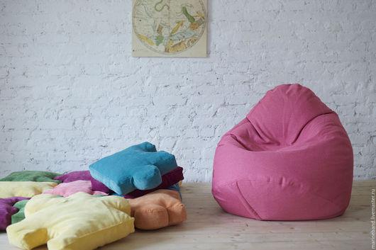 """Мебель ручной работы. Ярмарка Мастеров - ручная работа. Купить Кресло-мешок """"Поньо"""" S. Handmade. Фуксия, мешок, розовый"""