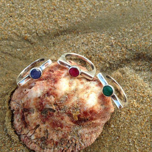 """Кольца ручной работы. Ярмарка Мастеров - ручная работа. Купить Набор колец """"Трио"""". Handmade. Комбинированный, рубин, красивое кольцо"""