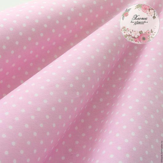 Шитье ручной работы. Ярмарка Мастеров - ручная работа. Купить Ткань хлопок Горох на розовом фоне. Handmade. Хлопок, польша