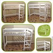 Кровати ручной работы. Ярмарка Мастеров - ручная работа Кровать чердак с прямой лестницей L высота 150 см. Handmade.
