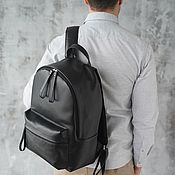 Сумки и аксессуары handmade. Livemaster - original item Backpack leather men`s