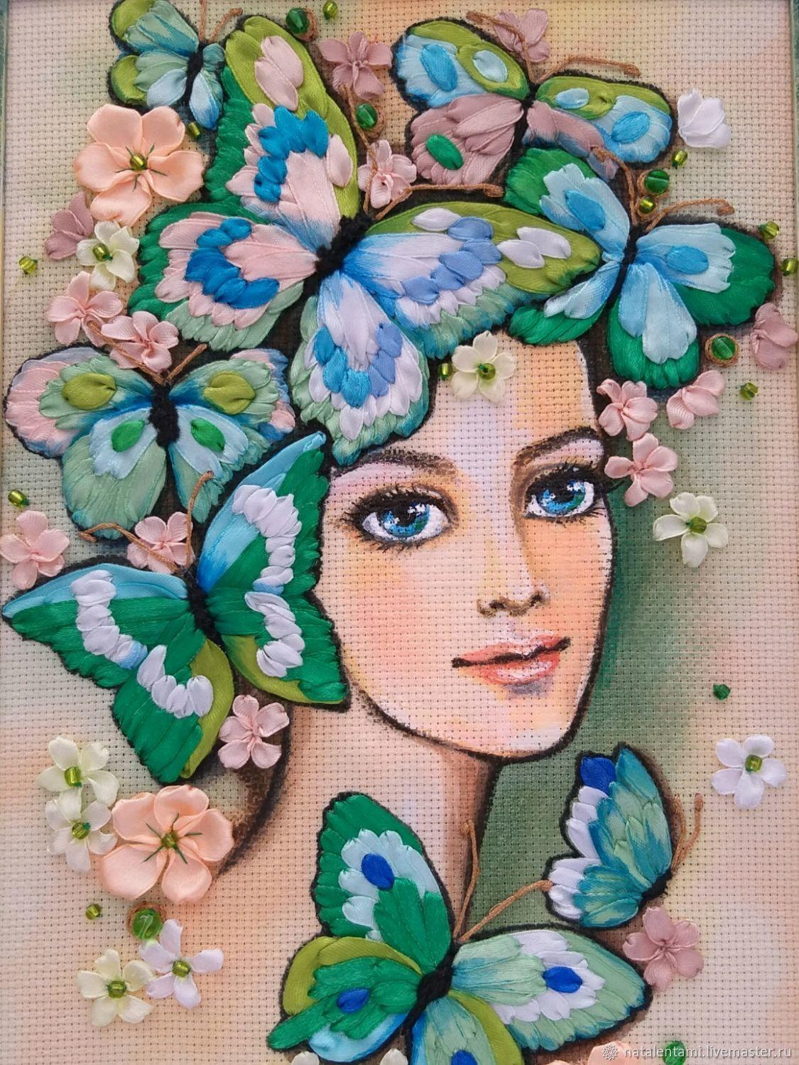 Картина Девушка с бабочками, Картины, Нижний Новгород,  Фото №1
