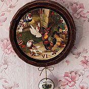 Для дома и интерьера handmade. Livemaster - original item Wall clock country