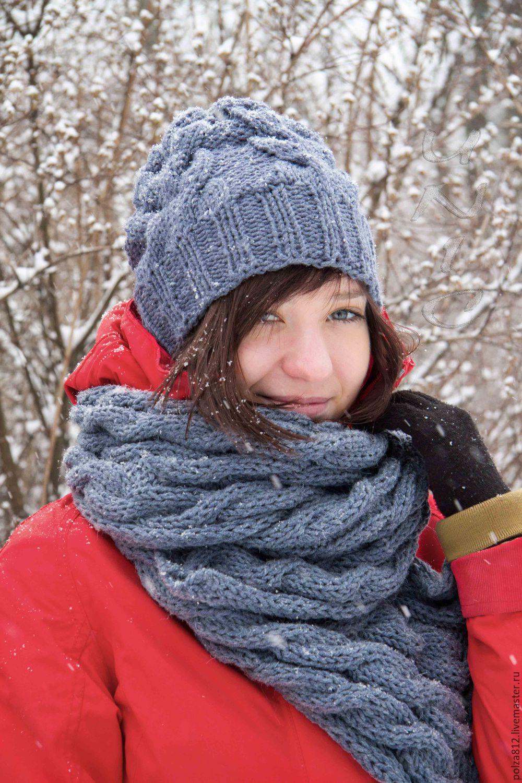 Связать комплект шапка с шарфом