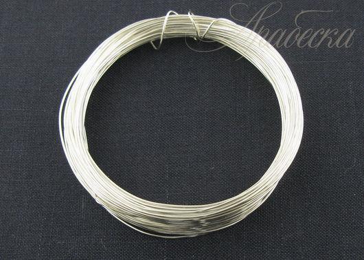 Проволока медная серебряного цвета 0.6мм EFCO (Германия) 10м/упак