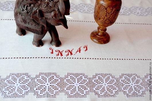 праздничная скатерть вышитая скатерть ажурная скатерть строчевая вышивка белым по белому белая вышивка большая скатерть украшение стола украшение интерьера