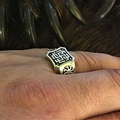 Русский стиль handmade. Livemaster - original item Ring Rodemich with Kolowrat. Handmade.