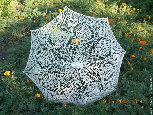 Зонты ручной работы. Ярмарка Мастеров - ручная работа. Купить Ажурный зонтик. Handmade. Бежевый, летний зонт, металлическая фурнитура