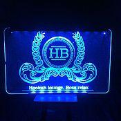 Дизайн и реклама ручной работы. Ярмарка Мастеров - ручная работа вывеска из оргстекла с подсветкой. Handmade.