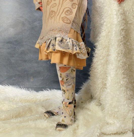 Носки, Чулки ручной работы. Ярмарка Мастеров - ручная работа. Купить Эко Колготки,  контактное крашение, Эко-принт. Handmade.