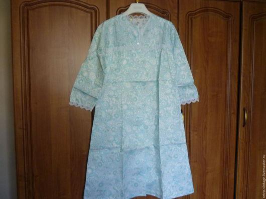 Одежда. Ярмарка Мастеров - ручная работа. Купить Ночная тёплая рубашка.. Handmade. Голубой, сорочка