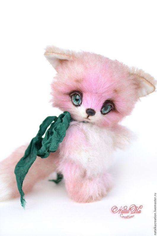 Мишки Тедди ручной работы. Ярмарка Мастеров - ручная работа. Купить Розовый лисенок тедди Ли 12,5 см. Handmade.
