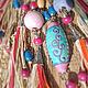 """Колье, бусы ручной работы. Ярмарка Мастеров - ручная работа. Купить Ожерелье """"ЧучерИя"""". Handmade. Ожерелье, латина, хипповый, экрю"""
