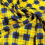 Материалы для творчества handmade. Livemaster - original item Twill silk art. 31.0009 (Yellow-blue). Handmade.