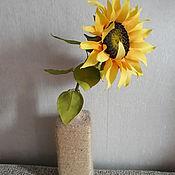 Цветы и флористика ручной работы. Ярмарка Мастеров - ручная работа Подсолнух. Handmade.