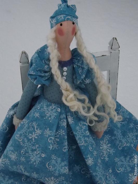 Новый год 2017 ручной работы. Ярмарка Мастеров - ручная работа. Купить Кукла-тильда Снегурочка. Handmade. Голубой, кукла Тильда