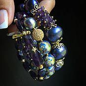 """Украшения ручной работы. Ярмарка Мастеров - ручная работа Браслет """"Deep violet"""". Handmade."""