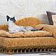 """Аксессуары для собак, ручной работы. Ярмарка Мастеров - ручная работа. Купить Диванчик для питомца """"Лаура"""". Handmade. Лежанка, аксессуары для кошек"""