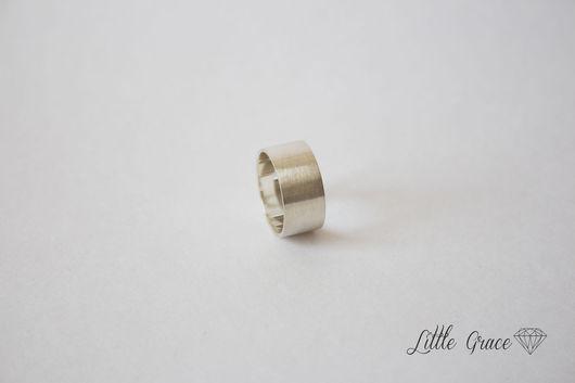 Кольца ручной работы. Ярмарка Мастеров - ручная работа. Купить Широкое матовое кольцо из серебра. Handmade. Little grace, серебро