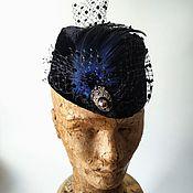 handmade. Livemaster - original item Margot hat with a veil. Handmade.