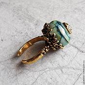 Украшения handmade. Livemaster - original item ring assol lampwork, brass. Handmade.