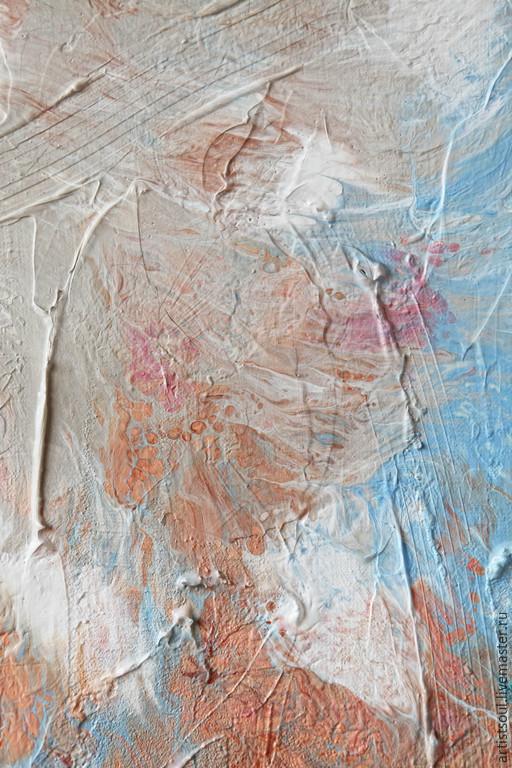 Абстракция ручной работы. Ярмарка Мастеров - ручная работа. Купить Абстрактная живопись. J'adore.. Handmade. Голубой, пастель, небо, холст