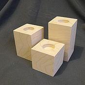 Для дома и интерьера ручной работы. Ярмарка Мастеров - ручная работа Подсвечник-куб. Handmade.