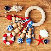 Куклы и игрушки ручной работы. Ярмарка Мастеров - ручная работа Прорезыватель-кольцо - первая игрушка в морском стиле. Handmade.