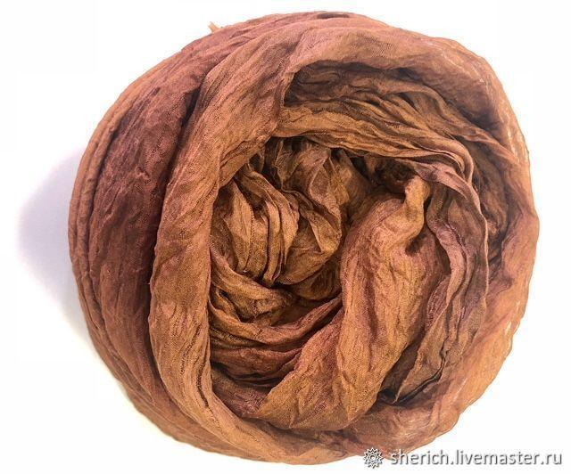 Валяние ручной работы. Ярмарка Мастеров - ручная работа. Купить Маргиланский шелк — газ, 75 см ширина,цвет - Терракот. Handmade.