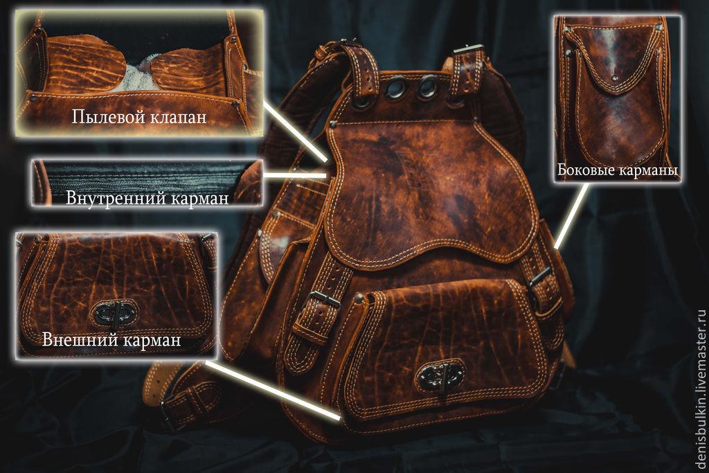 Backpack genuine leather, Backpacks, Penza,  Фото №1