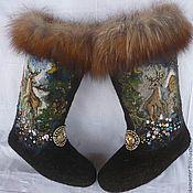 """Обувь ручной работы. Ярмарка Мастеров - ручная работа Валенки """"Серебряное копытце. Handmade."""