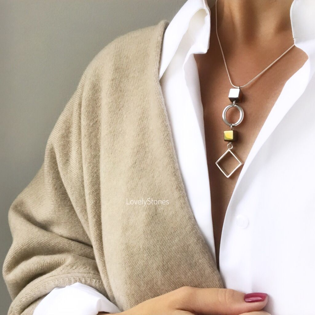 Necklace Energy necklace with hematite everyday decoration, Necklace, Yaroslavl,  Фото №1
