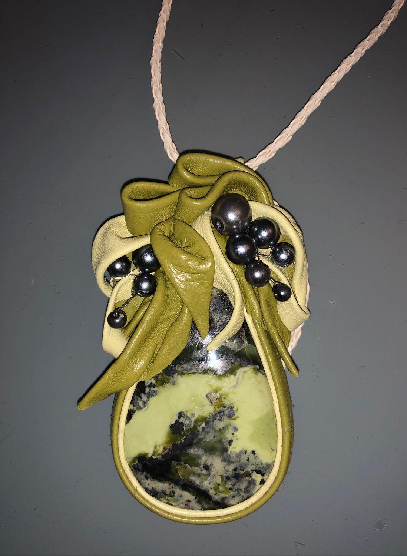 Summer MOOD necklace (Leather), Necklace, Kaluga,  Фото №1