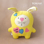 Куклы и игрушки handmade. Livemaster - original item Hare. I LOVE YOU. Handmade.