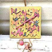 Для дома и интерьера ручной работы. Ярмарка Мастеров - ручная работа Настенные часы с бабочками. Handmade.