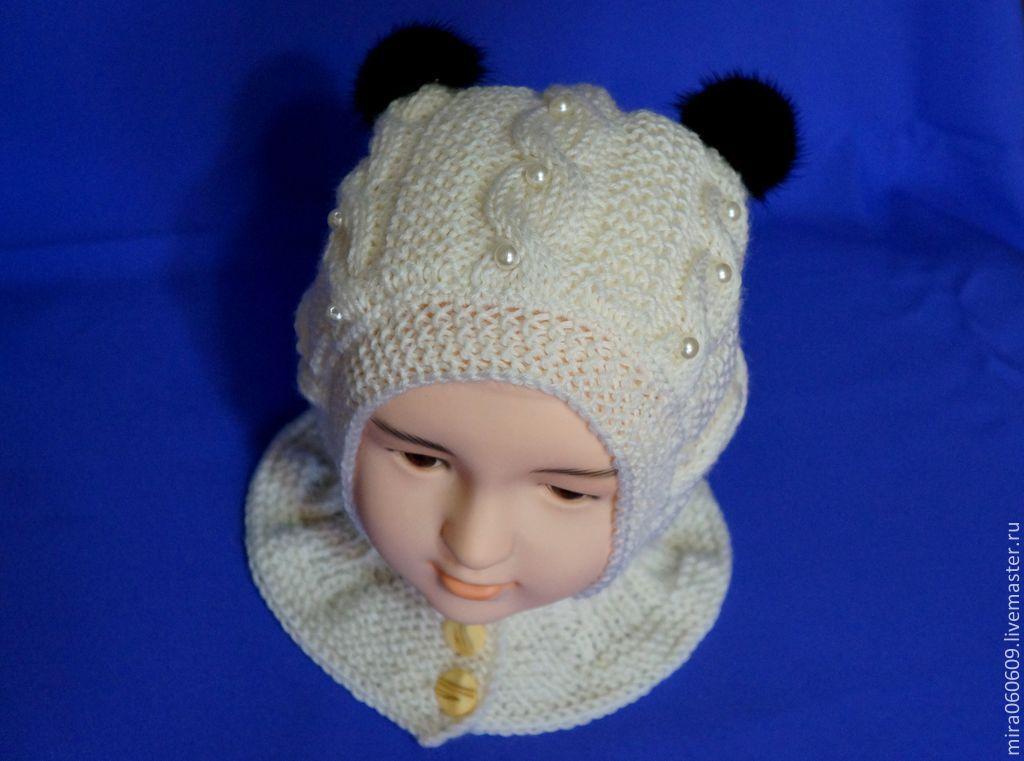 Вязание для девочек шапка шлем 131