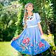Забава! (шелковое платье с ручной росписью), Платья, Нижний Новгород,  Фото №1