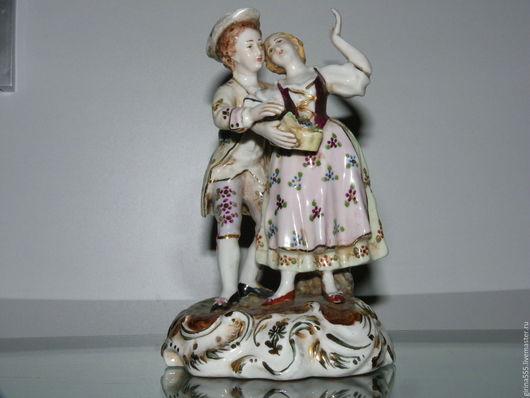 Винтажные предметы интерьера. Ярмарка Мастеров - ручная работа. Купить Двое Фарфоровая статуэтка Испанская мануфактура. Handmade. Испанская статуэтка