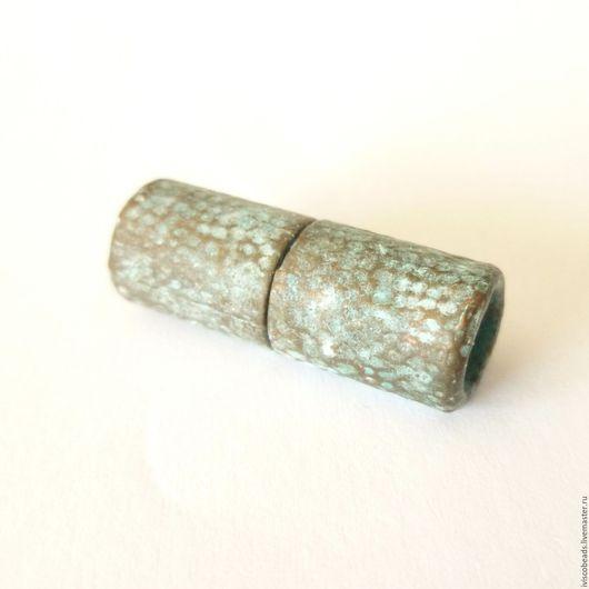 Для украшений ручной работы. Ярмарка Мастеров - ручная работа. Купить Магнитный замок 5 мм под чеканку - патинированная медь. Handmade.