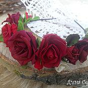 Украшения ручной работы. Ярмарка Мастеров - ручная работа Ободок для волос Роза из полимерной глины. Handmade.